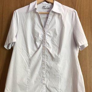 Women's Ulla Popken White Blouse Size 18